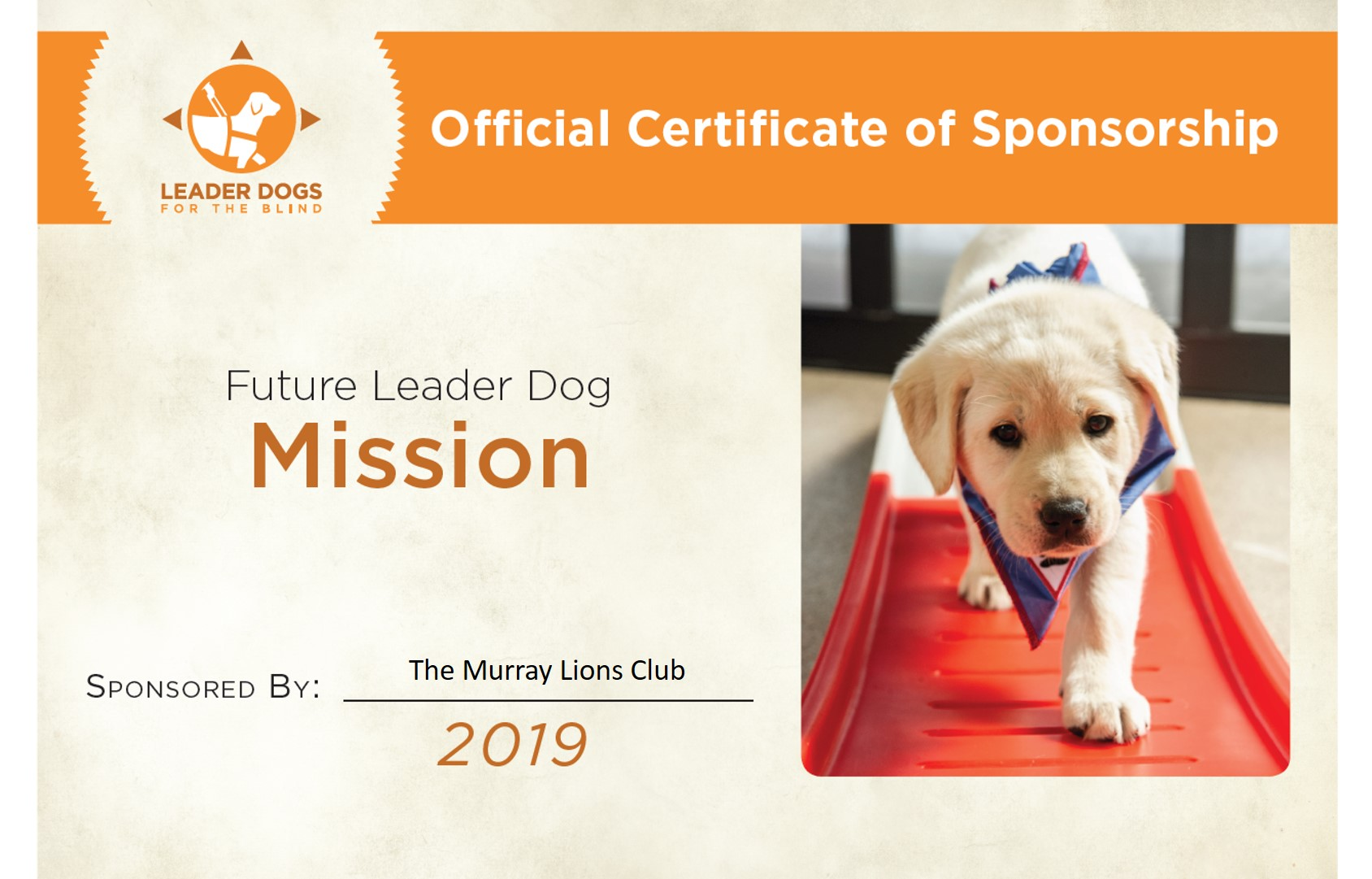 Mission Sponsorship
